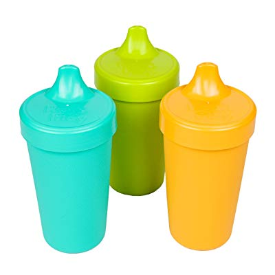 Re-Play Made in the USA 3pk No Spill Sippy Cups for Baby