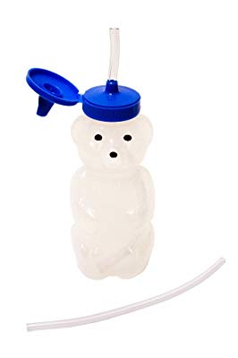 Talktools Honey Bear Drinking Cup with 2 Flexible Straws