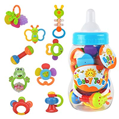 WISHTIME Rattle Teether Set Baby Toys